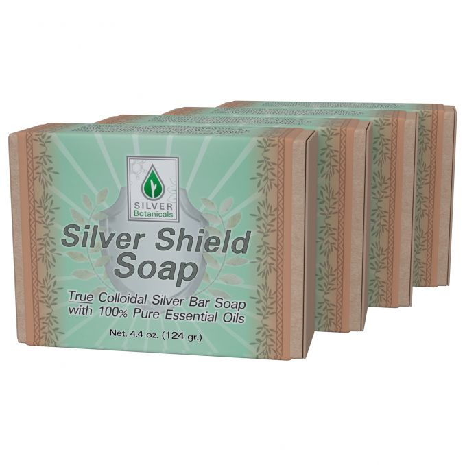 Four-Pack Silver Shield Soap Bar