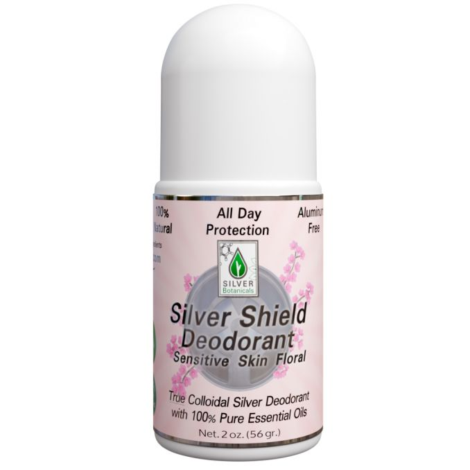 Silver Shield Deodorant - Floral, Sensitive Skin, Roll-on