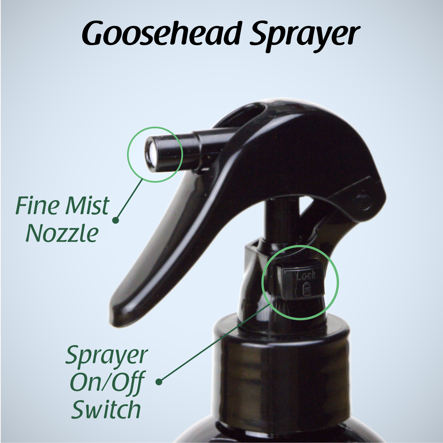 Trigger Fine-mist Sprayer with Safety-lock