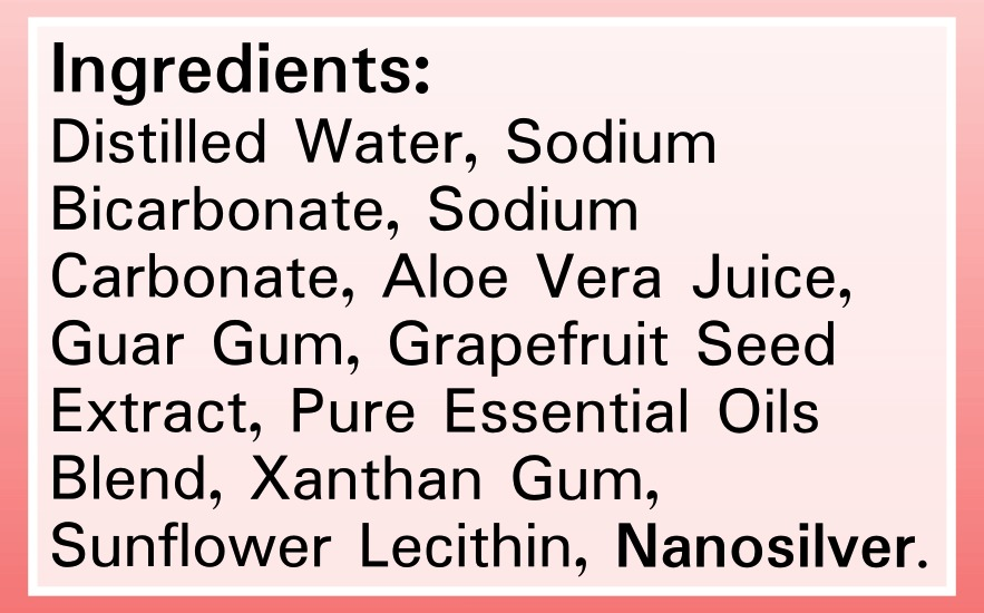 Silver Shield Deodorant - Sensitive Skin Floral - Ingredients