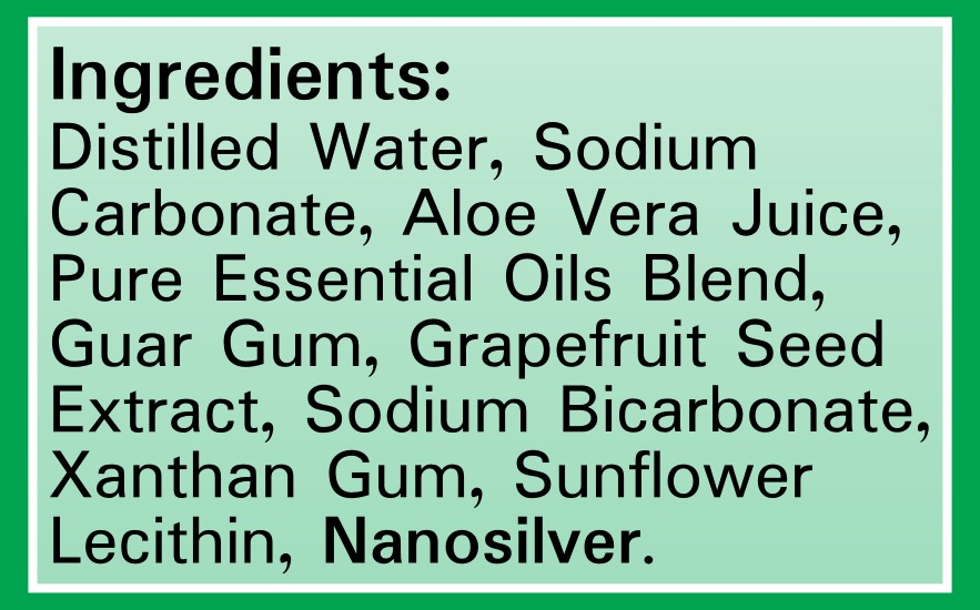 Silver Shield Deodorant - Original Formula - Ingredients