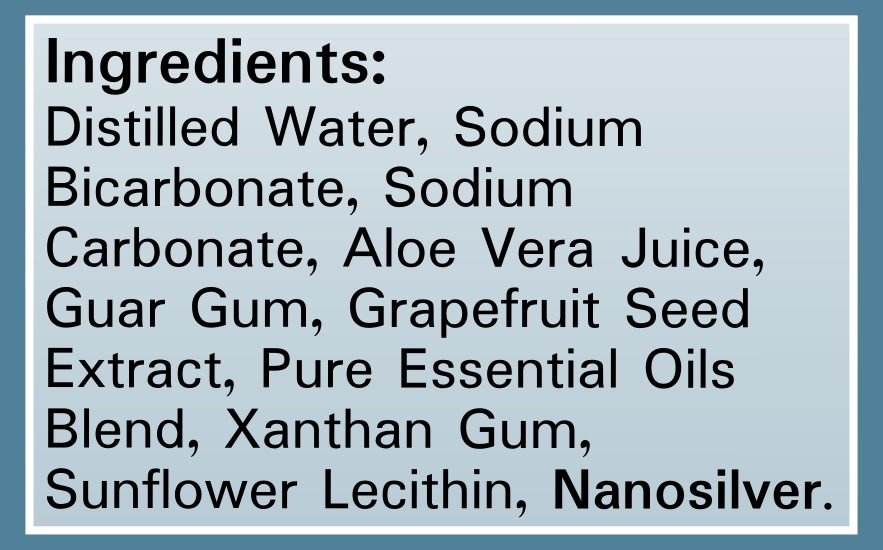 Silver Shield Deodorant - Sensitive Skin - Ingredients